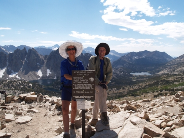 Vicki and I at Kearsage Pass - 11760 feet elevation