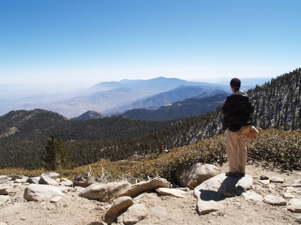 Looking south from the San Jacinto Peak Trail