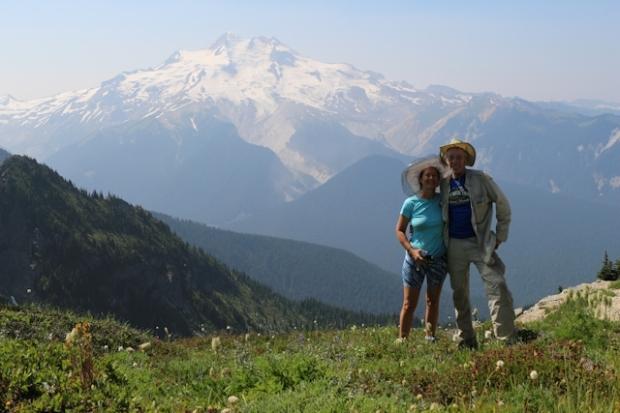 Vicki and I with Glacier Peak behind us