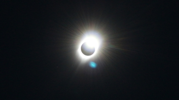 Diamond Ring eclipse formation as Totality was ending