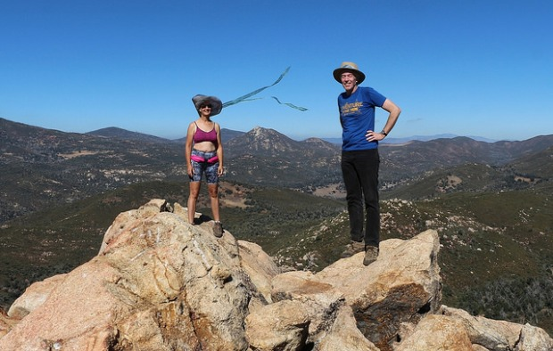 Vicki and I on the summit of Oakzanita Peak