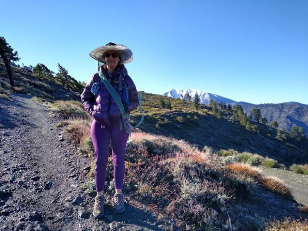 Vicki on the PCT near Wrightwood, CA